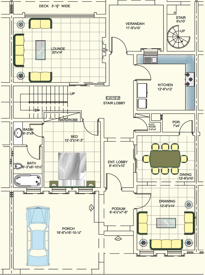 10 marla house plan layout in pakistan joy studio design for Home designs map