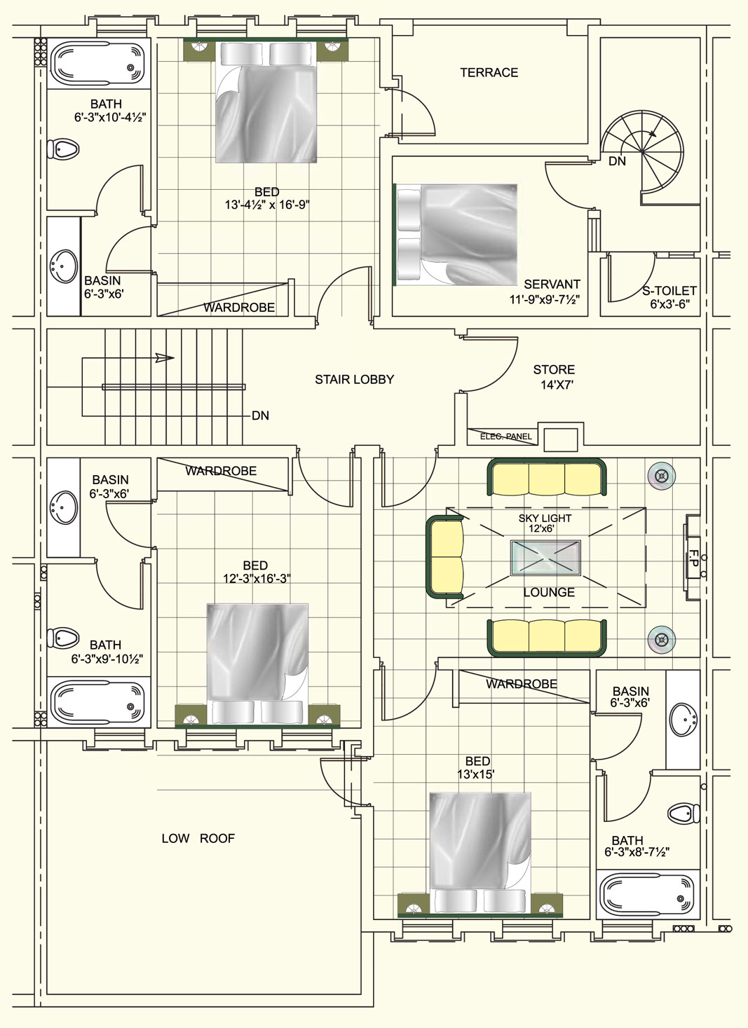 Layout Plan Dha Homes 5 Marla